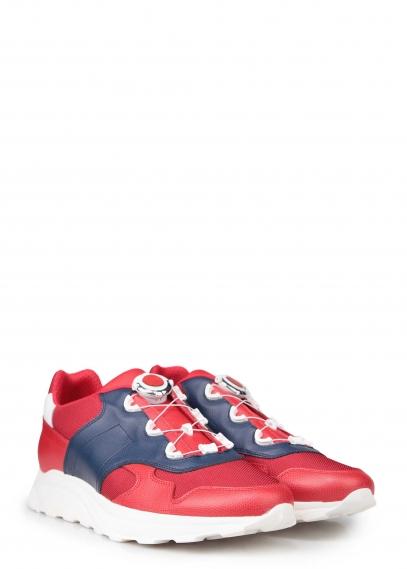 A7-214-11-4 (красный) Кроссовки кожа / текстиль/текстиль