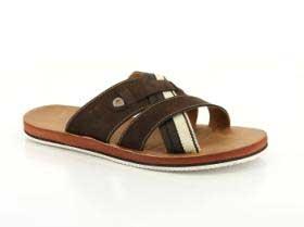 B1-209-01-3 (коричневый) Сланцы нубук / текстиль/экокожа
