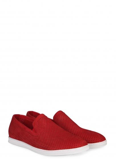 81-414-01-2 (красный) Слиперы замша/кожа